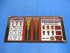 Bally Gaming Inc. Cash for Life Slot Machine Pay Out Chart