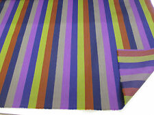 "Purple Stripes (1) ""Paul Smith STYLE Striped 100% Wool Curtain/Upholstery Fabric"