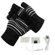Hot Laptop Heating Winter USB Warm Fingerless Gloves Hands Heated Warmer Woolen