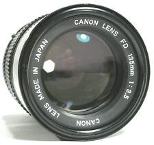 Canon 135mm F/3.5 FD Manual Focus Prime Lens UK Fast Post