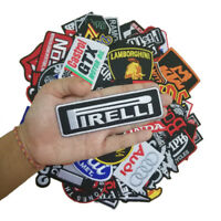 Set 18 pcs Embroidered Iron On Patch Craft Motorcycle Racing Mix Racing Biker