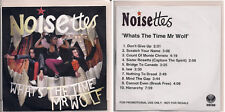 Noisettes What's The Time Mr Wolf? 10 track promo in plastic wallet insert UK CD