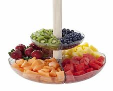Outdoor 2 Tier Carousel Umbrella Serving Tray Dessert Fruit Party PLATTER Dishes