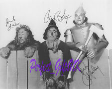 Wizard of Oz Ray Bolger Bert Lahr Jack Haley Signed 10x8 PP Repro Photo Print