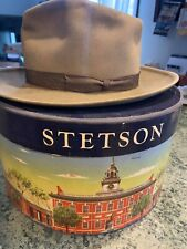 New listing Stetson Fifteen Men's Vintage Hat with Box Tan Size 7