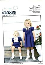 Smocking Unlimited Sewing  203 Pattern Girl's Boys Panel Front Duo 12-24 Mos UC