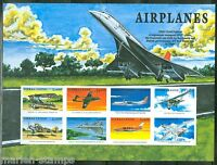 SIERRA  LEONE  IMPERF AIRPLANES THE CONCORDE, NIEUPORT SHEET  SC#2174  MINT NH