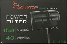 Aquatop Hang-on Power Filter PF-600 for up to 40 Gal Aquariums
