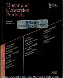 PMI Data Book 1986-1987 Linear and Conversion Products