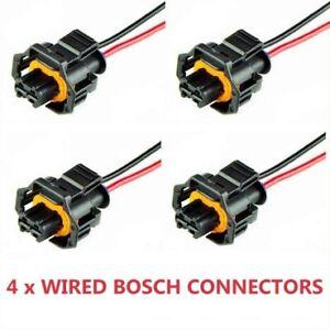 Alfa Romeo diesel pre Wired Bosch Diesel Injector Electrical Connector Plug x4