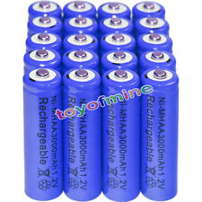 20x AA battery batteries Bulk Nickel Hydride Rechargeable NI-MH 3000mAh 1.2V Blu