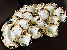 Rare Antique (1920s) Reid's Park Place China 23 Piece Gold Gilded Imari Tea Set