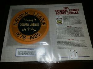 Cooperstown Baseball Replica PATCH Collection:1925 NATIONAL LEAGUE GOLD JUBILEE