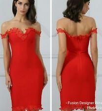Womens Fusion Boutique Red Celeb Bandage Dress (Size 8)