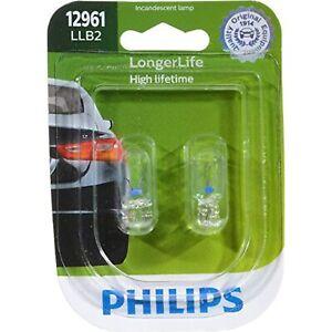 Philips 12961LLB2 LongerLife Miniature Bulb, 2 Pack