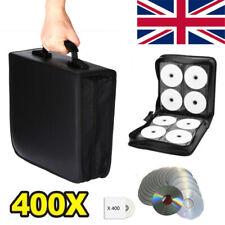 More details for 400 sleeve cd dvd blu ray disc carry case holder bag wallet storage ring binder