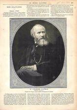Portrait de Charles-François Gounod compositeur Auteur de Polyeucte GRAVURE 1878