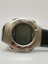 Vintage Kenneth Cole Reaction Mens Watch Steel Rubber Band Black Silver Digital