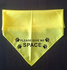 SLED DOG SPIRIT AWARENESS TIE ON DOG BANDANA GIVE ME SPACE FOR NERVOUS DOGS