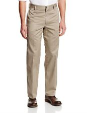Levis Dockers D2 Signature Khaki Chinos Straight Fit Flat Front Trousers Beige