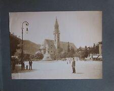 1902 BOLZANO BOZEN Johannis platz Piazza Walther foto albumina Würthle & Son