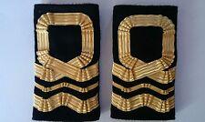 Sea Cadet Corps Lieutenant Commander Lt Cdr Gold RNVR Epaulettes Slides SCC