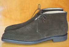 NEW! CROCKETT & JONES TETBURY UK 9.5 E US 10.5 CHUKKA BOOT BROWN SUEDE NATHAN