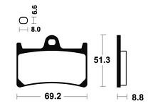 Plaquettes de frein Bendix MSS134 métal fritté pour YAMAHA