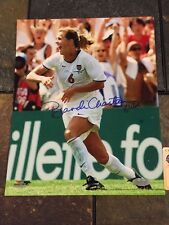 """Brandi Chastain Signed 8X10 Picture Incription """"6"""", """"Usa"""" Coa By Steiner Sports"""