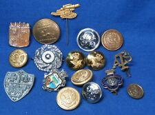 Wwii European, Australian, Great Britain Army Insignia & Buttons Lot Of 16