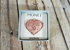 """MONET  """"MOM""""  Heart Shaped Collectible Keepsake Trinket Box Mother Gift Mommy"""