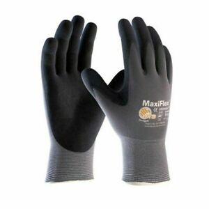 12 x size 10/ XL ATG MaxiFlex Ultimate Nitrile Foam Work Gloves Breathable&Light