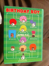 Brand New Afro Ken Birthday Boy Card with a Football Match