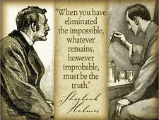 SHERLOCK HOLMES QUOTE VINTAGE   RETRO STYLE WALL METAL SIGN HOME DECOR GIFT 3