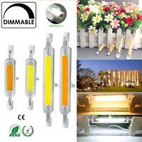 R7s LED 118mm 78mm Dimmable COB Bulbs 7W 12W 15W 25W Ceramic Glass Tube Light RK