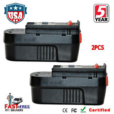 2X For BLACK & DECKER 18V 18 Volt HPB18 Slide Battery Pack Ni-CD HPD1800 FSB18