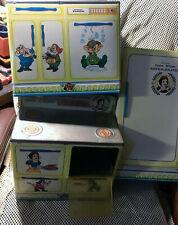 Vintage 1960s Walt Disney Snow White 3 Piece Tin Litho Toy Kitchen Set Wolverine