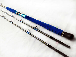 Double tips game fishing Pelagic 2 Sections boat fishing rod 35kg saltwater  rod
