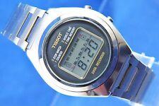 VINTAGE Tissot quarzo LCD Timer Digitale Mondo di registrazione dei dati Orologio circa 1970s