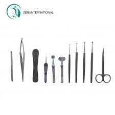 Strumento Chirurgico Occhio Kit Set di 11 PZ veterinaria oftalmica KIT MEDICO CE