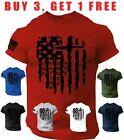 USA Flag T Shirt one nation under god Army Jesus cross Christian Tee