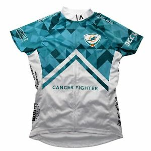 Primal Cycling Jersey Womens Medium Teal White Miami Dolphins Full Zip