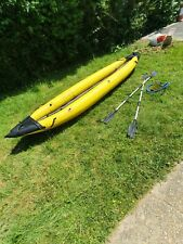 Inflatable Kayak / Canoe Damaged But Works 2 Person