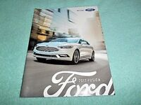 """2017 FORD FUSION INFORMATION BROCHURE BOOKLET 7-1/4""""X 9-1/2"""" 34 PAGES"""