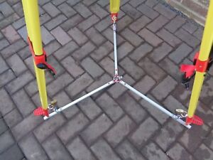 Redsretros survey security device, for a Total station tripod