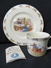 Royal Doulton Bunnykins Mr. Piggly Store Plate Windy Day Mug Bunnykins Booklet