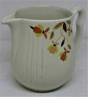 "Halls Superior China Autumn Leaves 6"" Pitcher Jug Vase. B303"