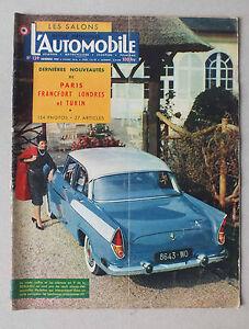 L AUTOMOBILE  - MAGAZINE  MENSUEL N° 139 - NOVEMBRE 1957 *