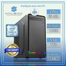 i5 Computer 16GB RAM 4th Gen Quad PC 1TB SSD Fast Nostra Windows 10 Builtin WiFi