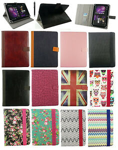 """Stylish Universal Multi Angle Wallet Case Cover for Tablet 7""""- 8"""" inch +Stylus"""